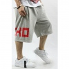 Amanda49 Cool Hip Hop Style Street Dancing Feel Letter Pattern Loose Middle Pants