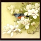 Frameless Flowers and Birds Hand-painted Colorful Bright Oil Painting