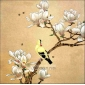 Frameless Flowers and Birds Hand-painted Decorative Oil Painting