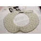 Girls Pure Manual Retro Pearl Ribbon Beads Lace Collar